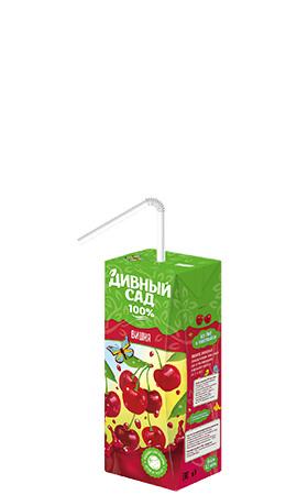 Упаковка 200 мл., напиток Дивный Сад со вкусом - Вишня