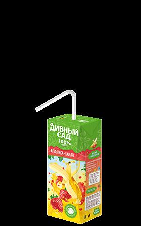 Упаковка 200 мл., напиток Дивный Сад со вкусом - Клубника-Банан