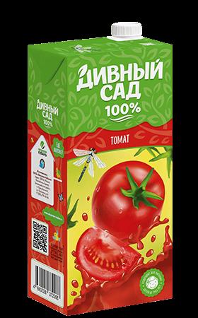 Упаковка 1 литр, напиток Дивный Сад со вкусом - Томат