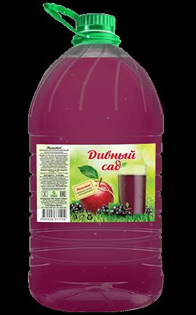 Яблочно-черносмородиновый безалкогольный напиток, упаковка ПЭТ 5 литров