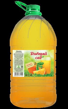 Апельсиновый безалкогольный напиток, упаковка ПЭТ 5 литров
