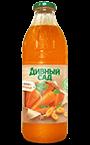 Нектар морковный с мякотью в стеклянной бутылке 1 литр