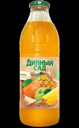 Напиток мультифруктовый в стеклянной бутылке 1 литр
