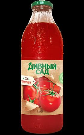 Сок томатный в стеклянной бутылке 1 литр