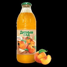 Напиток персиковый в стеклянной бутылке 1 литр