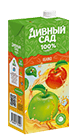 Упаковка 1 литр, напиток Дивный Сад со вкусом - Яблоко