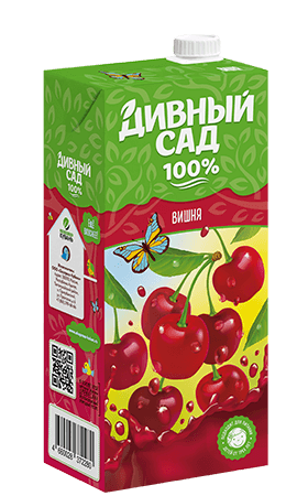 Упаковка 1 литр, напиток Дивный Сад со вкусом - Вишня