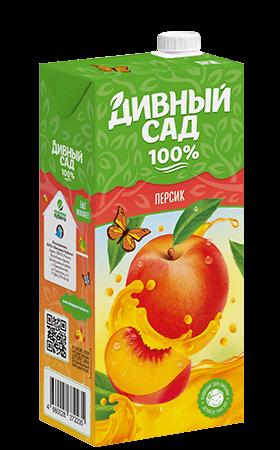 Упаковка 1 литр, напиток Дивный Сад со вкусом - Персик