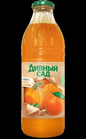 Нектар тыквенно-апельсиновый в стеклянной бутылке 1 литр